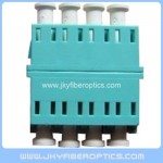 LC/PC SM Quad Fiber Optical Adaptor without ear-Light Blue Color