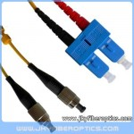 FC/UPC to SC/UPC Singlemode Duplex Fiber Optic Patch Cord