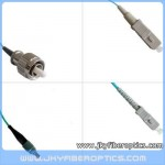 FC/PC to SC/PC Multimode OM3 10G Simplex Fiber Optic Patch Cord