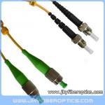 FC/APC to ST/UPC Singlemode Duplex Fiber Optic Patch Cord