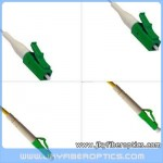 LC/APC to LC/APC Singlemode Simplex Fiber Optic Patch Cord