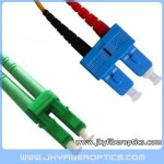 LC/APC to SC/UPC Singlemode Duplex Fiber Optic Patch Cord
