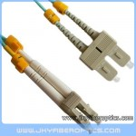 LC/PC to SC/PC Multimode OM3 10G Duplex Fiber Optic Patch Cord