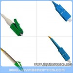 LC/APC to SC/UPC Singlemode Simplex Fiber Optic Patch Cord