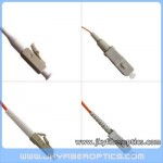 LC/PC to SC/PC Multimode Simplex Fiber Optic Patch Cord