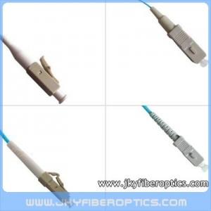 LC/PC to SC/PC Multimode OM3 10G Simplex Fiber Optic Patch Cord