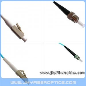 LC/PC to ST/PC Multimode 10G OM3 Simplex Fiber Optic Patch Cord
