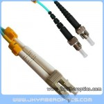 LC/PC to ST/PC Multimode 10G OM3 Duplex Fiber Optic Patch Cord